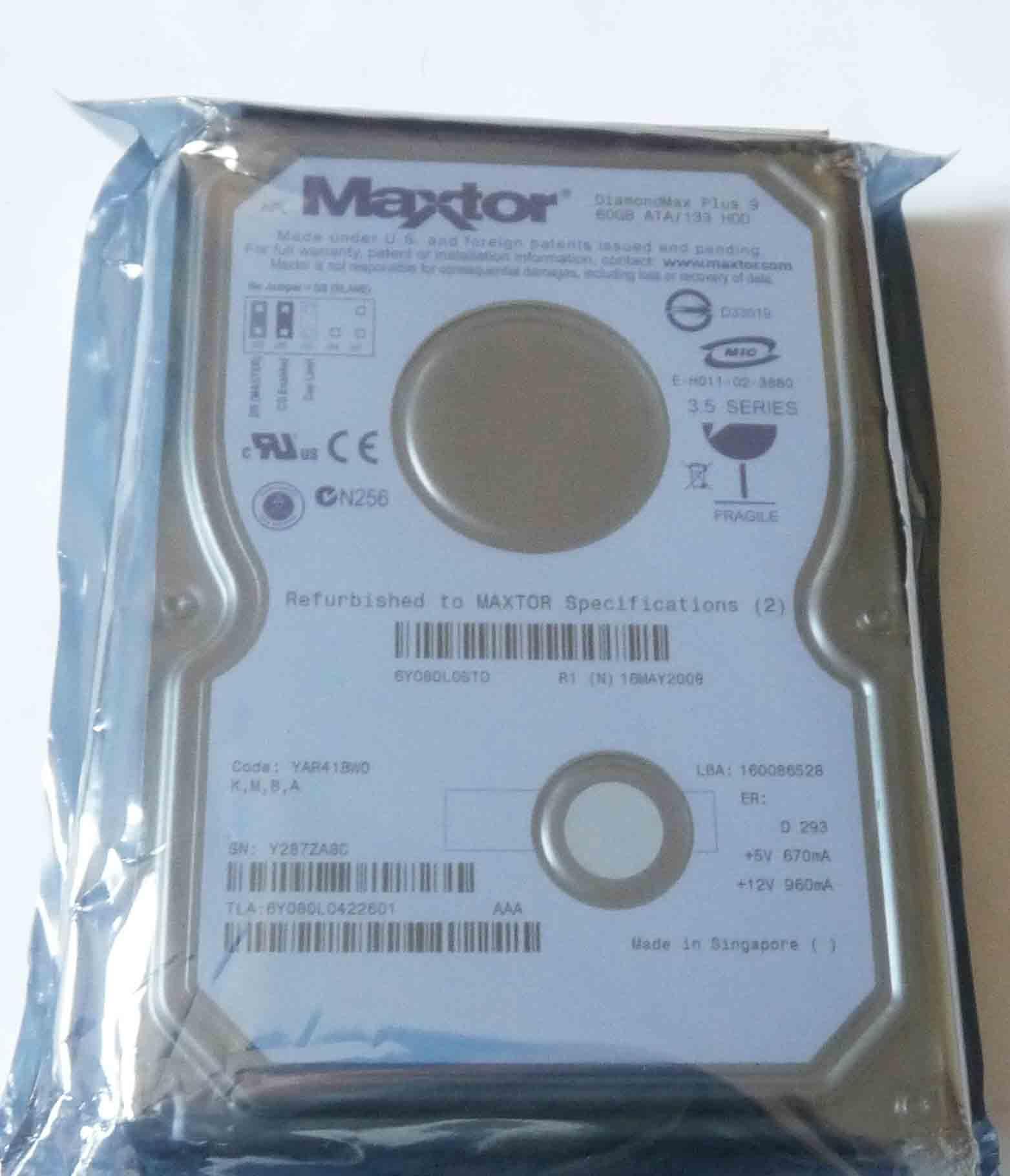 Maxtor DiamondMAX Plus 9 80GB Oicp 6y080l0 OICPfr